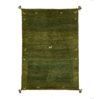 ペルシャンギャッベ ザロニム グリーン系 約139×99cm
