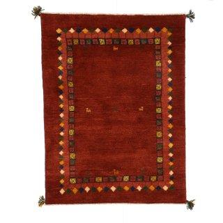 ペルシャンギャッベ ザロニム レッド系 約140×103cm