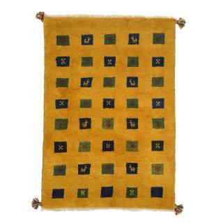 ペルシャンギャッベ ザロニム イエロー系 約138×97cm