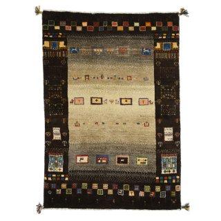 ペルシャンギャッベ ザロニム ブラウン系 約162×112cm