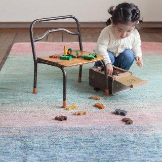 パキスタン 手織 ガゼニー ウール 絨毯 7×9 約140×200�