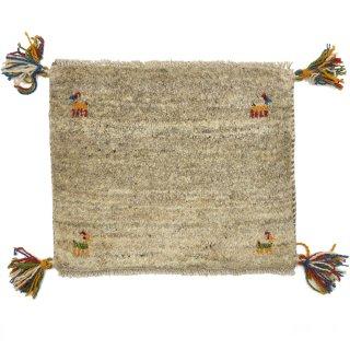 ペルシャンギャッベ ベージュ系 座布団サイズ 約43.5×36cm