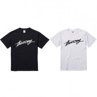 the irony / 筆記体ロゴTシャツ
