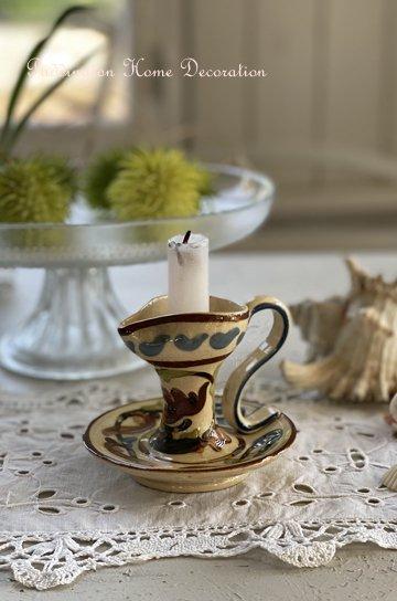 陶器製キャンドルスタンド R20227