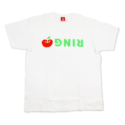 逆さリンゴTシャツ☆白バージョン