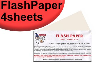 フラッシュペーパー(Flash Paper)(Theatre Effects社製)【約20cm × 23cm】 4シート