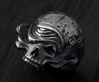 アラベスクスカルリング/tellers skull 003 custom Jinny's/シルバーアクセサリー/15~30号