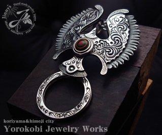 Jinny's/アラベスクシールドイーグルM/グラスホルダー/ペンダントトップ/手彫り/一点物