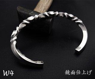 7つ波形のゆらぎバングル M /W4-7/シルバー950/14~19cm