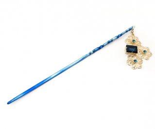 空色の夢簪-紺碧の夢/純チタン/TP340/15~18cm