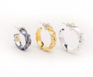ゆらぎピアスM/silver925/フープピアス/ピアス/1個/サイズ選択可