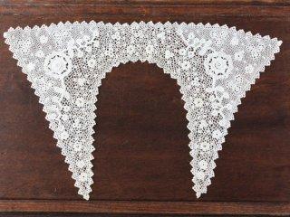 お花模様 クロッシェレース アンティーク飾り襟