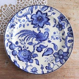 VILLEROY & BOCH ブルー&ホワイト 鳥とお花模様 ヴィンテージプレート