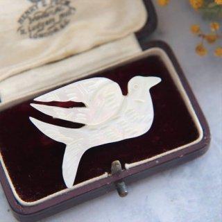 平和の鳩 マザーオブパール ヴィンテージブローチ