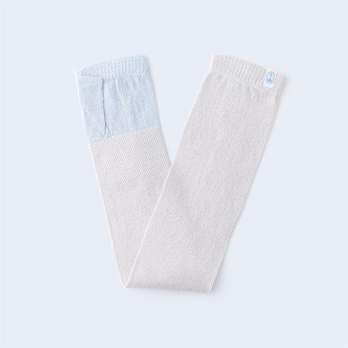 sunny knit basic light blue & ivory