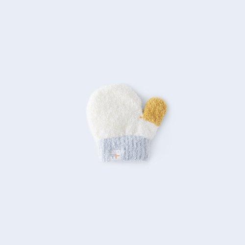 sanshoku miton KIDS white & yellow