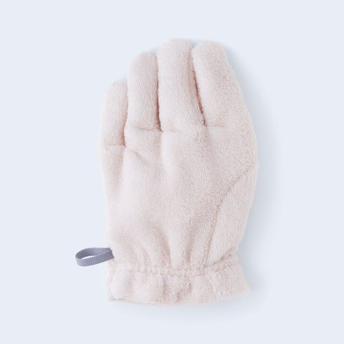 hair drying glove LEFT pink