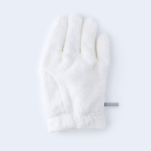 hair drying glove RIGHT white