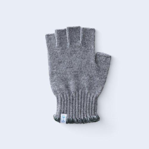 hamaguri open finger MEN gray×green