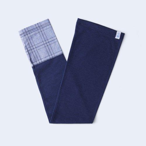 sunny cloth check cuff light blue & navy