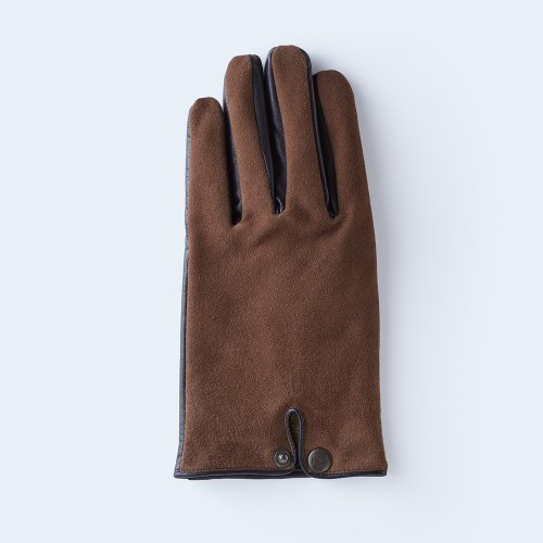 touch suede MEN brown