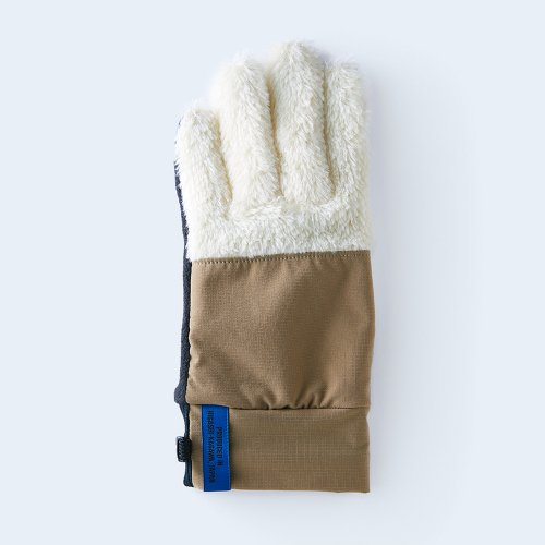 mountain fleece MEN white & beige