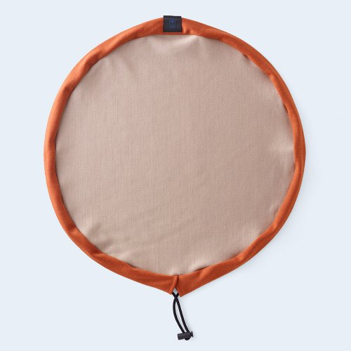 circle pouch beige & orange
