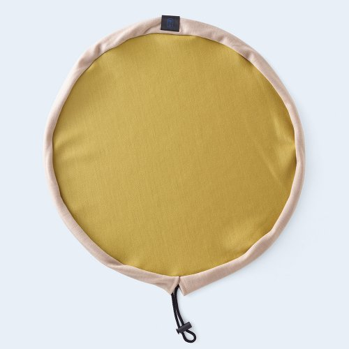 circle pouch yellow & beige
