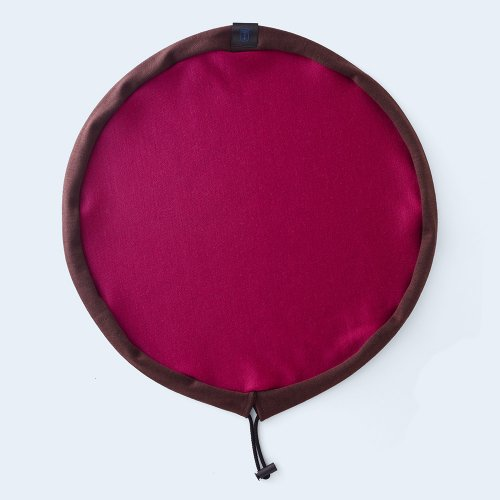 circle pouch brown & pink