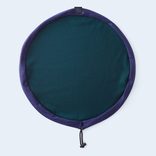 circle pouch navy & green