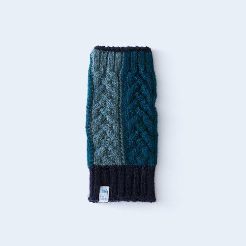 open miton WOMEN blue green block