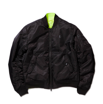 <img class='new_mark_img1' src='https://img.shop-pro.jp/img/new/icons20.gif' style='border:none;display:inline;margin:0px;padding:0px;width:auto;' />REVERSIBLE BOMBER JACKET BLACK