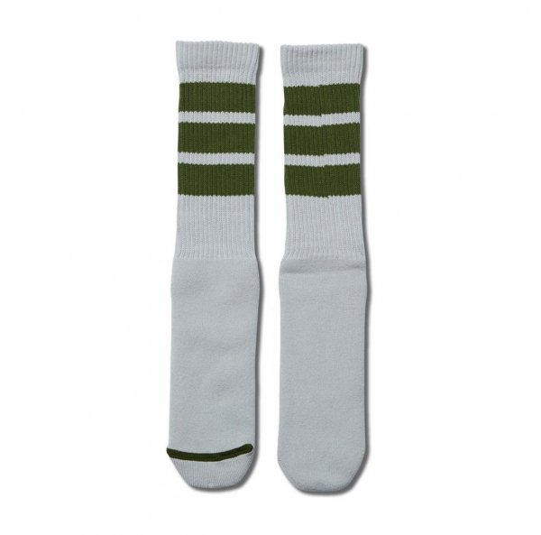 xSILAS MONSTER SOCKS L-GRAYxGREEN