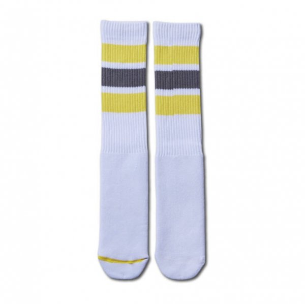 MONSTER SOCKS WHITExYELLOW