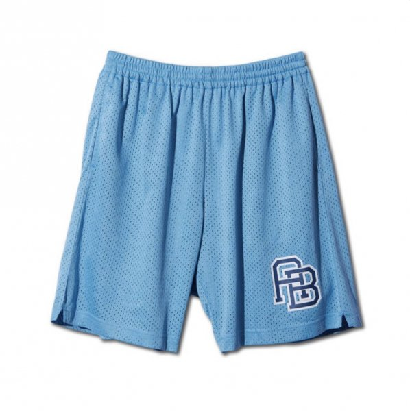 MONOGRAM MESH SHORTS L-BLUE