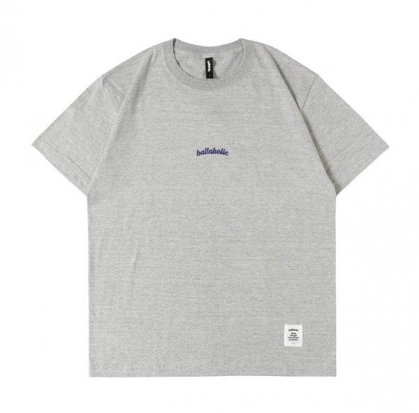 Small LOGO Tee (gray/navy)