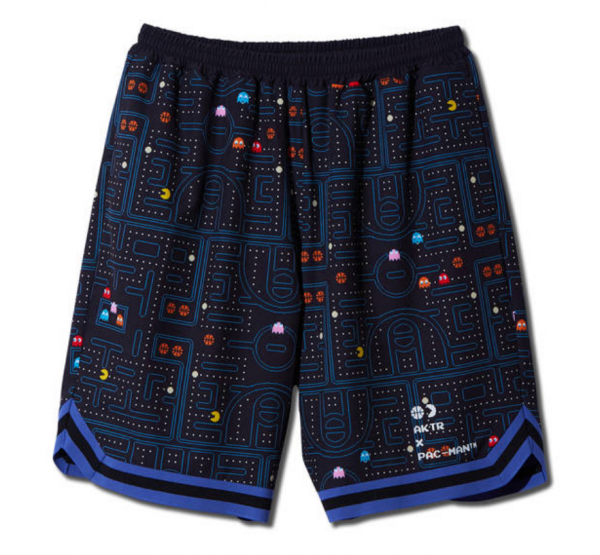 xPAC-MAN MAZE SHORTS BLACK