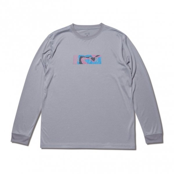 MULTICOLOR BOX LOGO L/S SPORTS TEE GRAY
