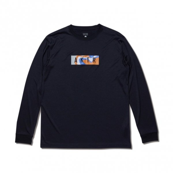 MULTICOLOR BOX LOGO L/S SPORTS TEE BLACK