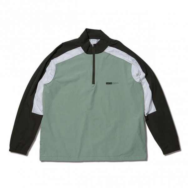 <img class='new_mark_img1' src='https://img.shop-pro.jp/img/new/icons10.gif' style='border:none;display:inline;margin:0px;padding:0px;width:auto;' />HALF ZIP SHOOTING SHIRTS GREEN