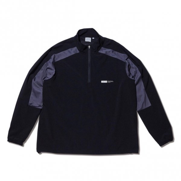 <img class='new_mark_img1' src='https://img.shop-pro.jp/img/new/icons10.gif' style='border:none;display:inline;margin:0px;padding:0px;width:auto;' />HALF ZIP SHOOTING SHIRTS BLACK