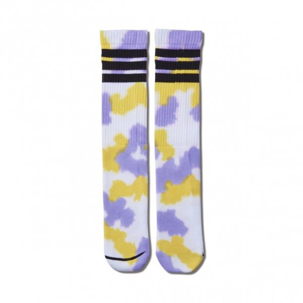 <img class='new_mark_img1' src='https://img.shop-pro.jp/img/new/icons14.gif' style='border:none;display:inline;margin:0px;padding:0px;width:auto;' />TIE DYE MONSTER SOCKS YELLOWxPURPLE