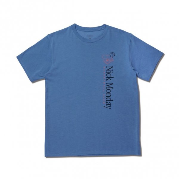 <img class='new_mark_img1' src='https://img.shop-pro.jp/img/new/icons14.gif' style='border:none;display:inline;margin:0px;padding:0px;width:auto;' />NICK MONDAY BASKETBALL CLUB TEE BLUE