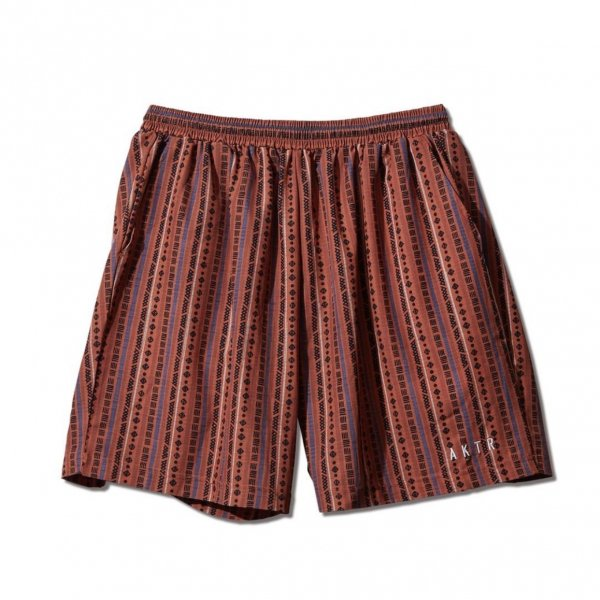 <img class='new_mark_img1' src='https://img.shop-pro.jp/img/new/icons14.gif' style='border:none;display:inline;margin:0px;padding:0px;width:auto;' />TRIBE STRIPE SHORT WIDE PANTS ORANGE
