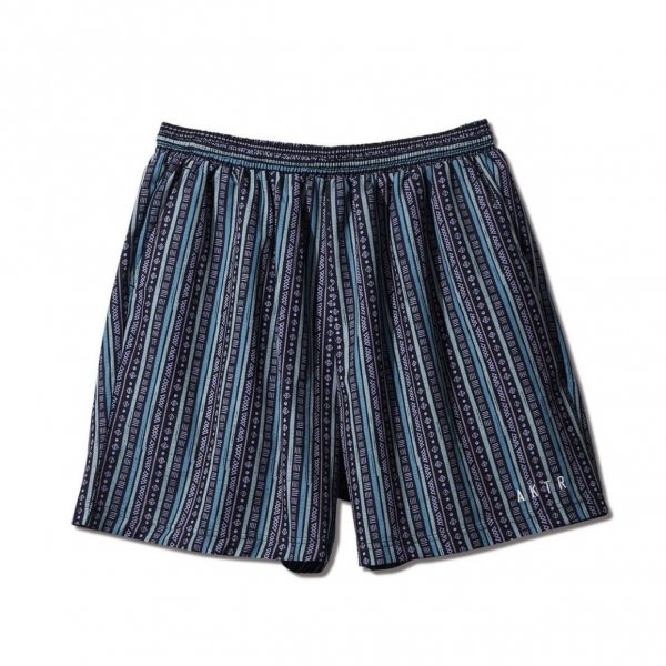 <img class='new_mark_img1' src='https://img.shop-pro.jp/img/new/icons14.gif' style='border:none;display:inline;margin:0px;padding:0px;width:auto;' />TRIBE STRIPE SHORT WIDE PANTS BLACK