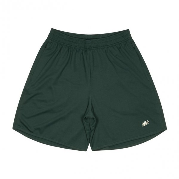 Basic Zip Shorts (dark green/ivory)