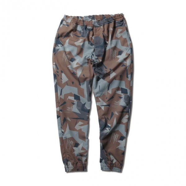 <img class='new_mark_img1' src='https://img.shop-pro.jp/img/new/icons14.gif' style='border:none;display:inline;margin:0px;padding:0px;width:auto;' />B.BALL POLYGON CAMO WARM UP PANTS BROWN