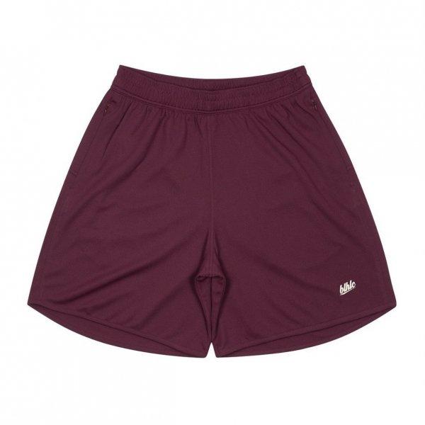 Basic Zip Shorts (crimson/ivory)