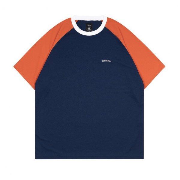 <img class='new_mark_img1' src='https://img.shop-pro.jp/img/new/icons14.gif' style='border:none;display:inline;margin:0px;padding:0px;width:auto;' />Logo 2 Tone Cool Tee (navy/orange rust)