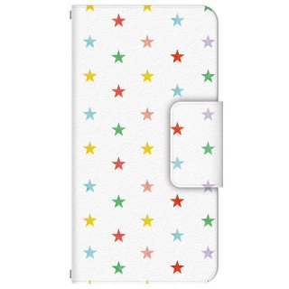 星降るカラフル・スター 多機種手帳型スマートフォンケース
